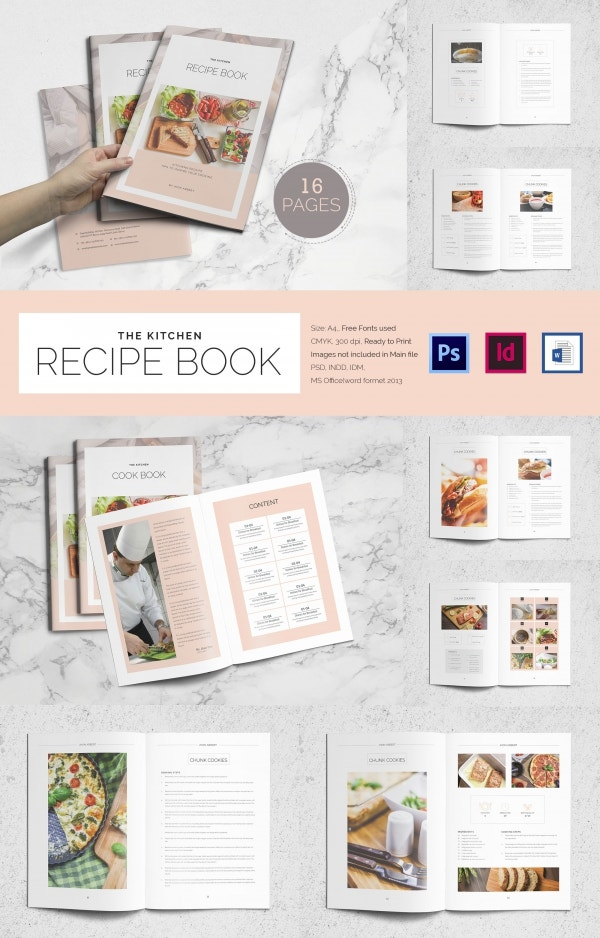 Chief Recipe Book  Microsoft Word Book Template Free