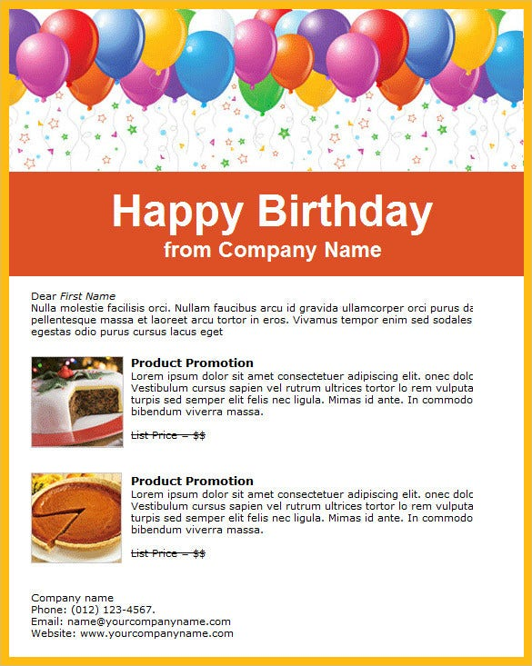 Happy Birthday Email Templates  Html Psd Templates Download