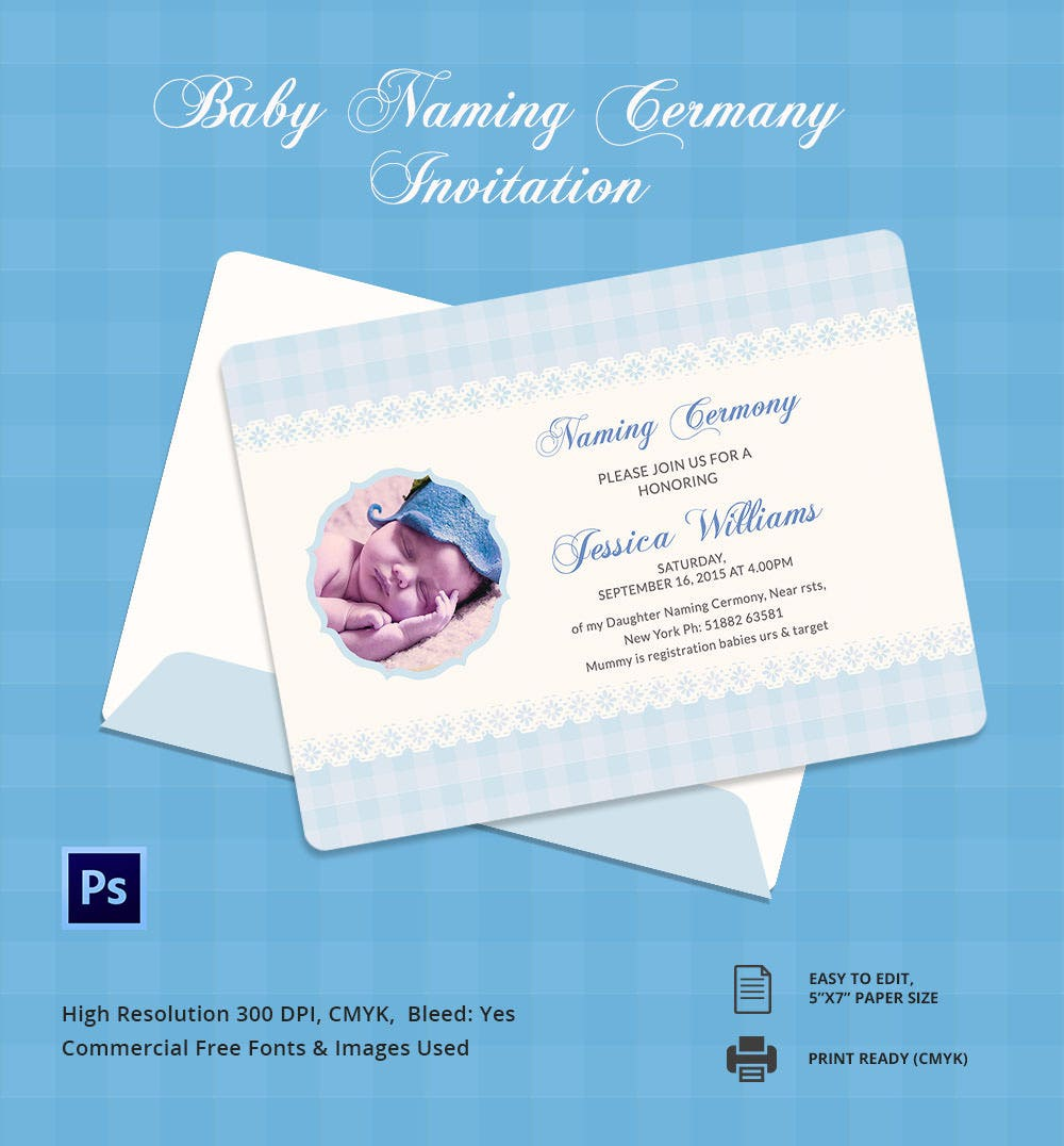 Customisable Baby Naming Ceremony Template