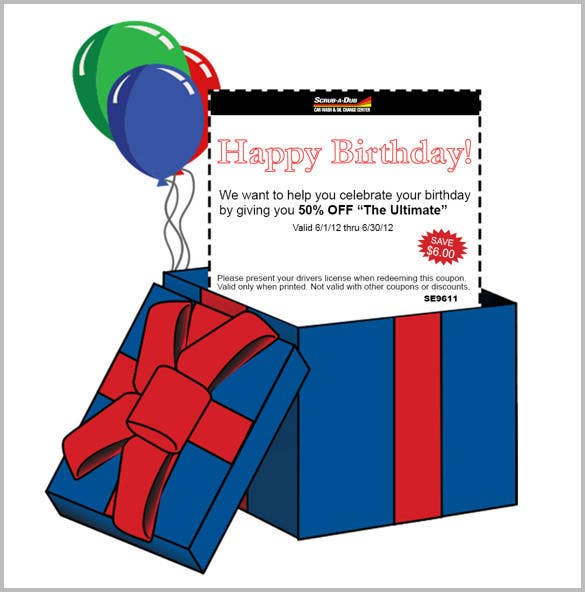 birthday email coupon template1