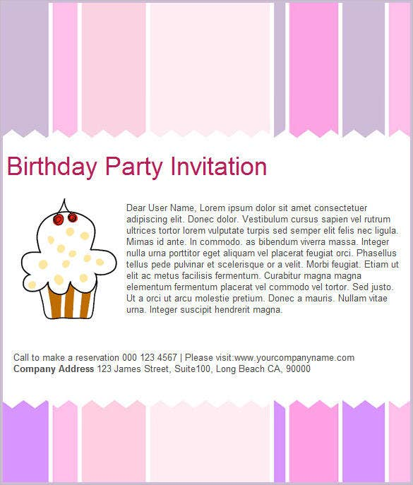 Happy Birthday Email Template - Email to friend for birthday invitation