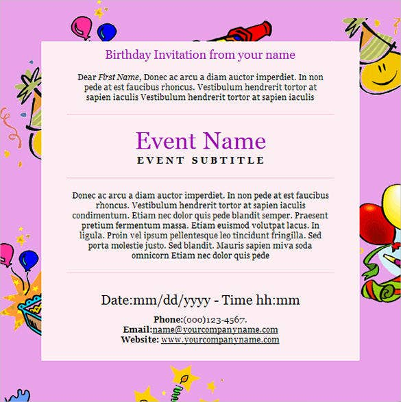 happy birthday event email template1
