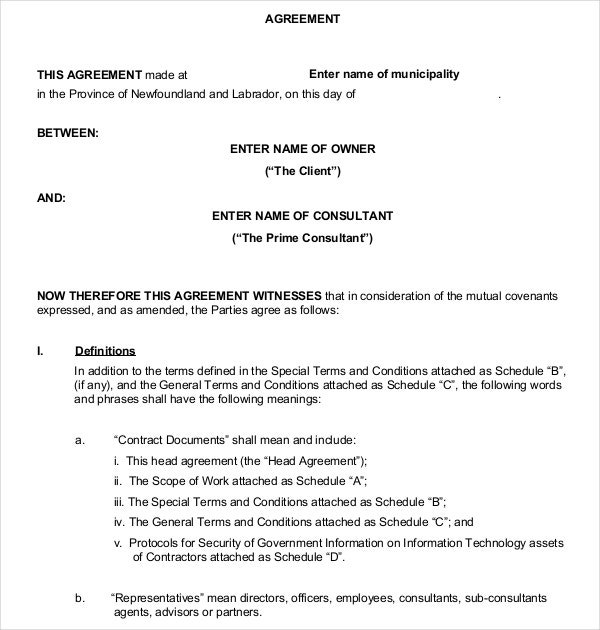 business contract agreement between client pdf format download