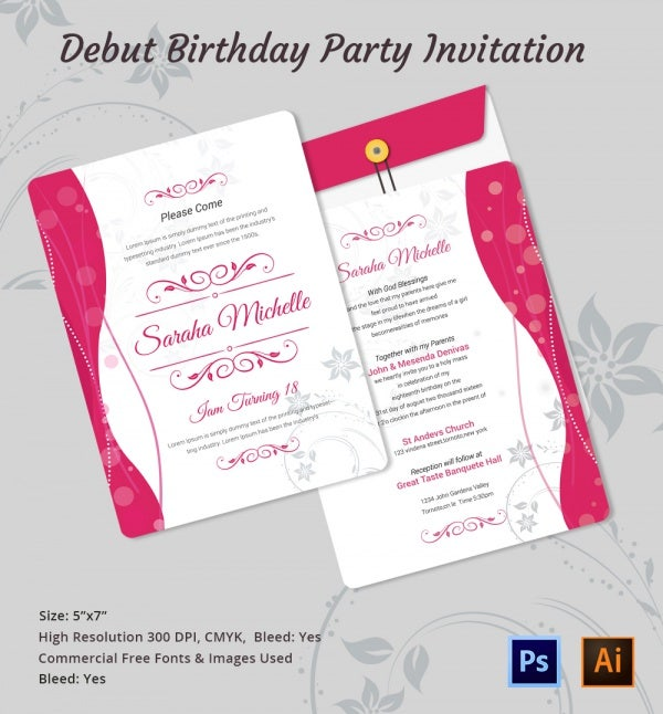 Debut Invitation Template   26+ Free Word, Pdf, Psd Format, Invitation  Templates  Free Customizable Invitation Templates