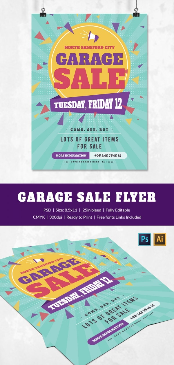 garage sale flyer template driverlayer search engine. Black Bedroom Furniture Sets. Home Design Ideas