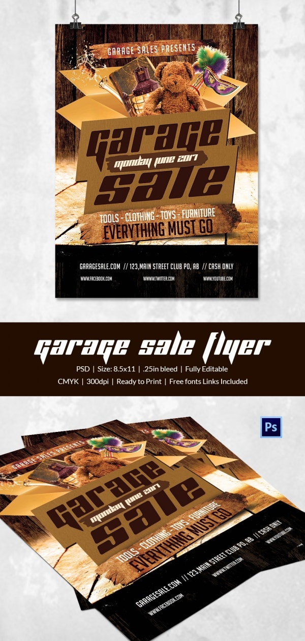 Editable Garage Sale Flyer Template