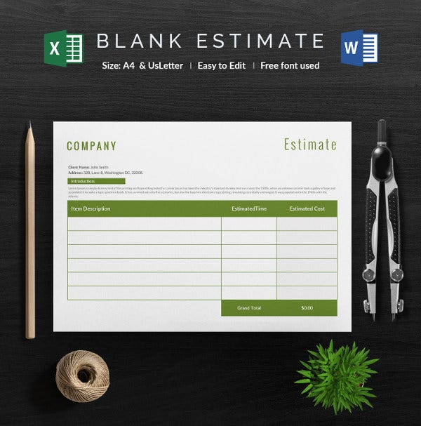 Adding And Subtracting Rational Expressions Worksheet Blank Estimate Template   Free Word Pdfexcelgoogle Sheets  Percentages Of Quantities Worksheet with Lytic And Lysogenic Cycle Worksheet Word Blank Estimate Excel Sheet  Word Free Letter S Worksheets Pdf
