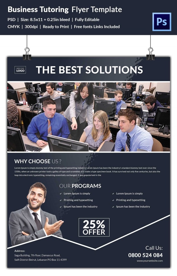 Business Tutoring Flyer Template