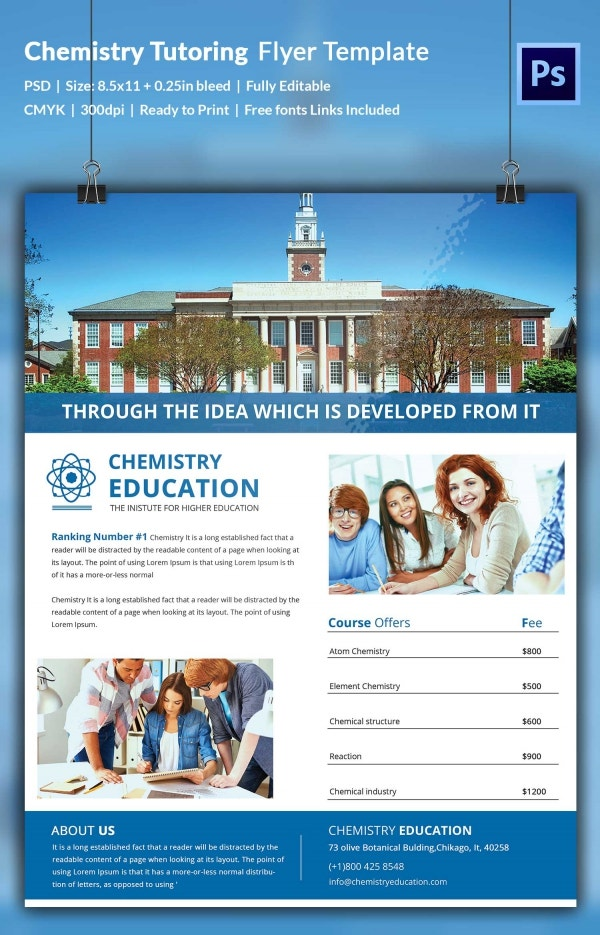 Chemistry Tutoring Flyer Template