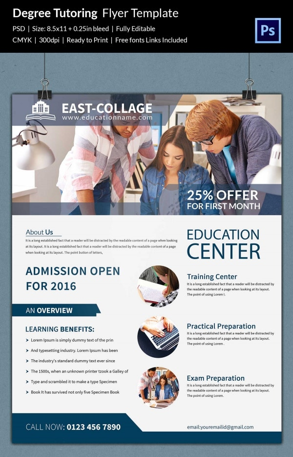 Degree Tutoring Flyer Template