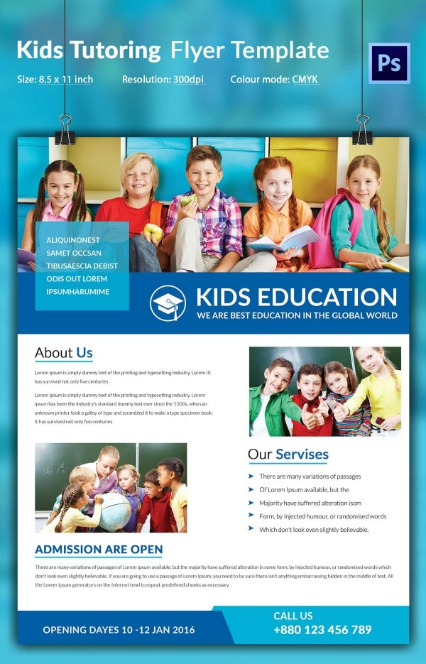 Kids Tutoring Flyer Template