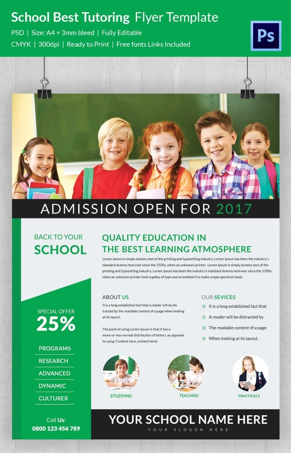 School Best Tutoring Flyer Template