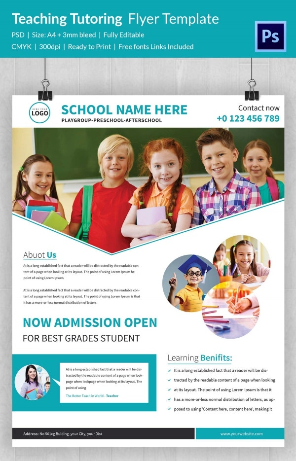 Teaching Tutoring Flyer Template