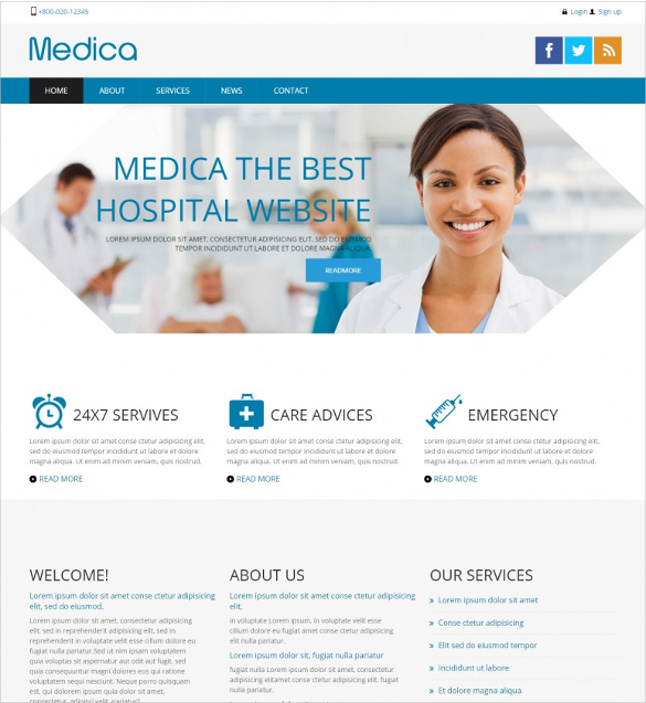 30 medical website themes templates free premium for Website templates free download