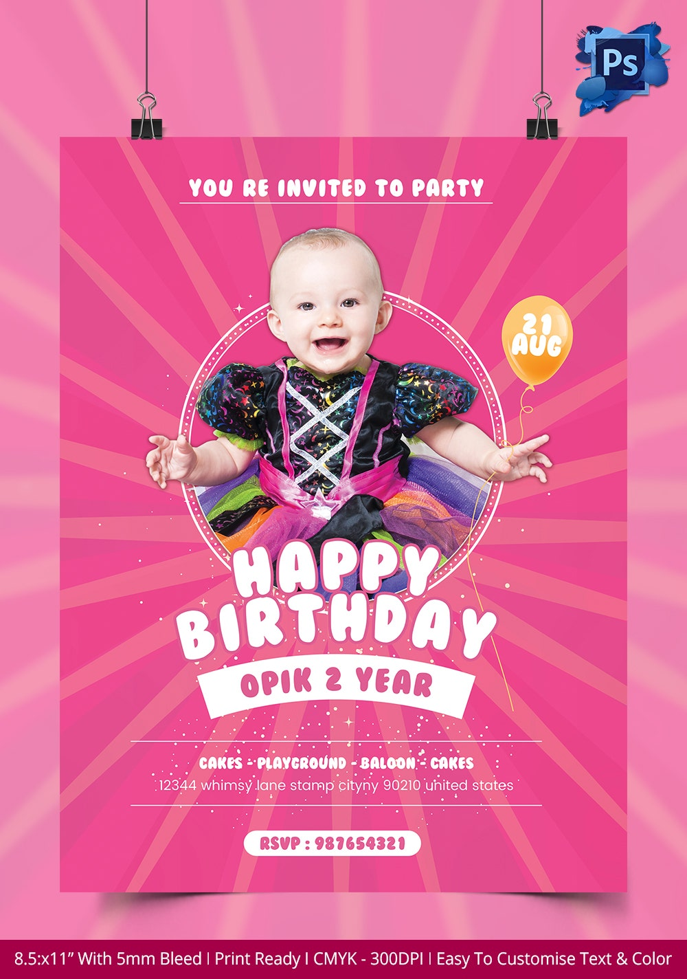 birthday flyer template 31 psd ai vector eps format birthday party invitation flyer