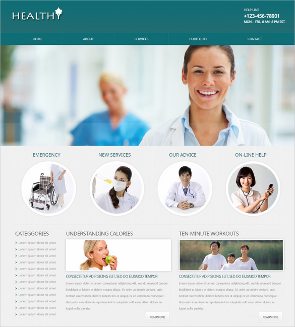 30 medical website themes templates free premium for Mobile site template free download