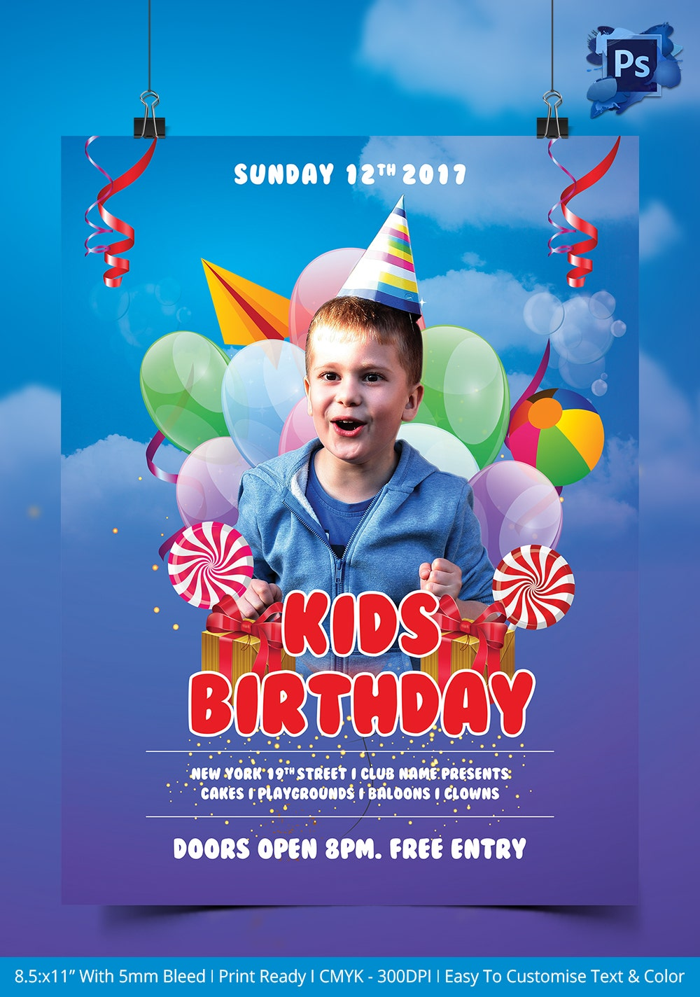 birthday flyer template 31 psd ai vector eps format kids birthday party flyer template