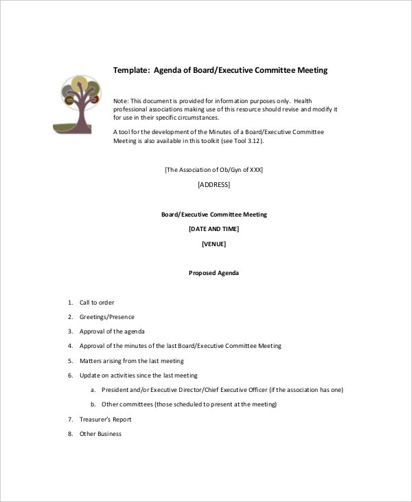 Board Meeting Minutes Examples