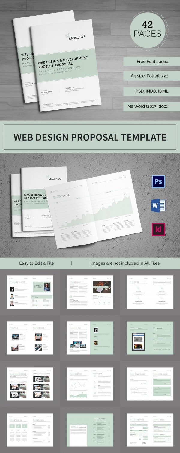 Design Proposal Templates 14 Free Word Excel PDF Format – Web Design Proposal Template