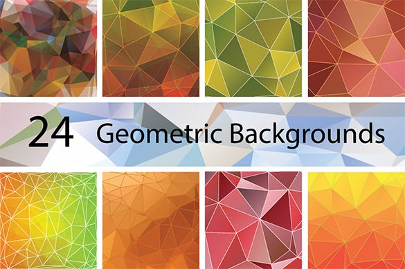 24 geometric illustration backgrounds