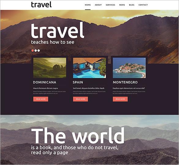 bootstrap responsive travel joomla theme1