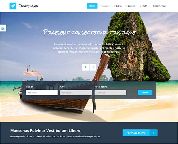 premium flat design joomla travel template