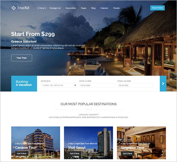 html5 css3 responsive travel tour joomla theme free download - Free Joomla Templates