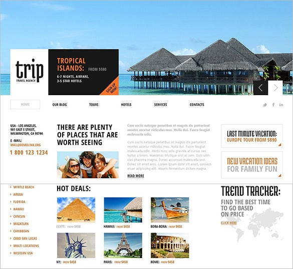animated portfolio travel agency joomla template2