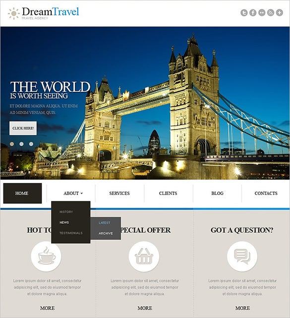 travel agency responsive joomla template1