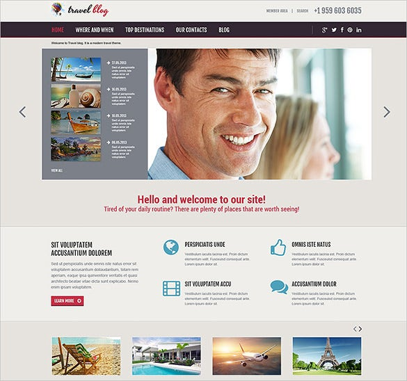 simple travel agency responsive joomla template