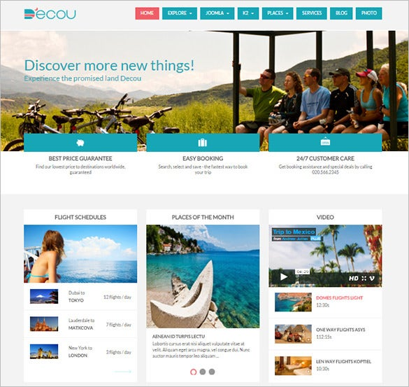 lazy load effect integrated travel joomla template2