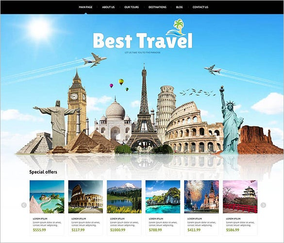 advanced navigation joomla template for travelling1