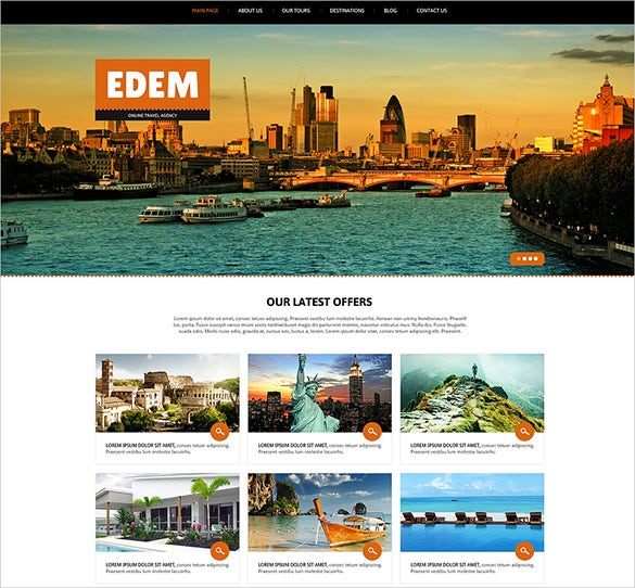 travel agency responsive joomla theme