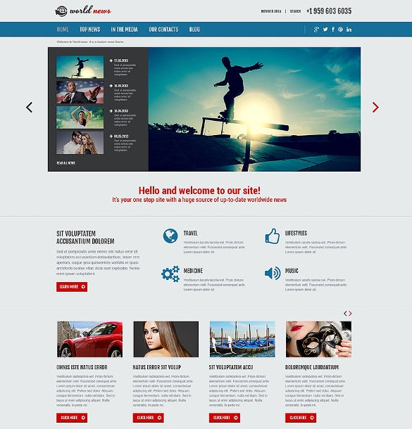 Animated Portfolio News Portal Joomla Template 75