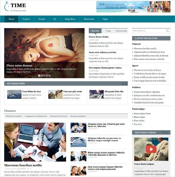 html5 css3 responsive news portal joomla theme