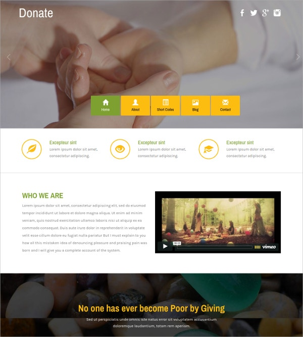 Responsive Society & People HTML5 Website Template
