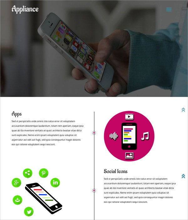mobile apps responsive html5 website template - Free Responsive Website Templates
