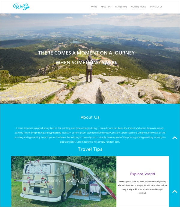 travel responsive html5 website template