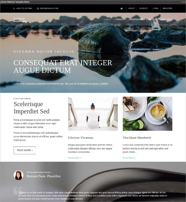 Free Multipurpose HTML5 Website Template