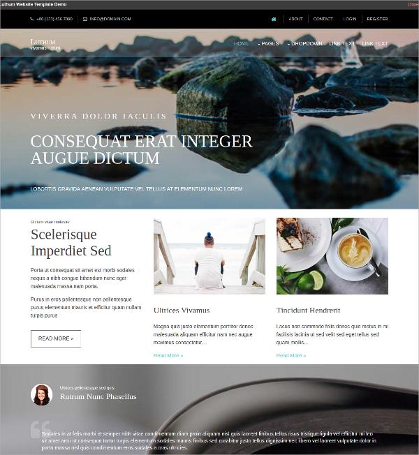 free multipurpose html5 website template