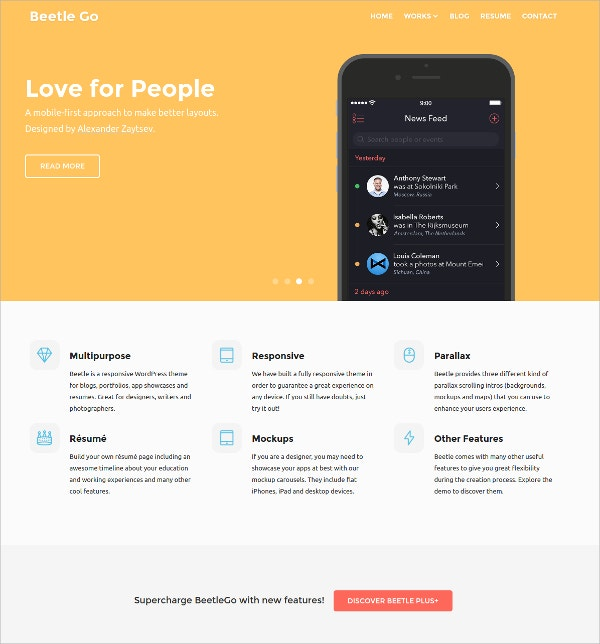 Free HTML5 Website Theme for Designers,Photographers