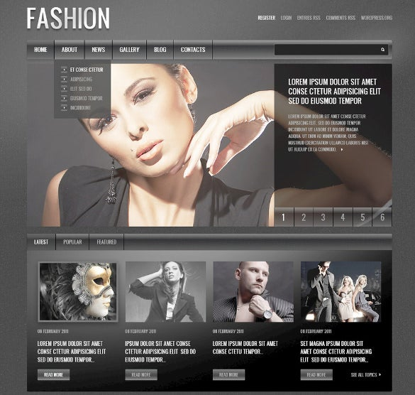 perfect design fashion psd template