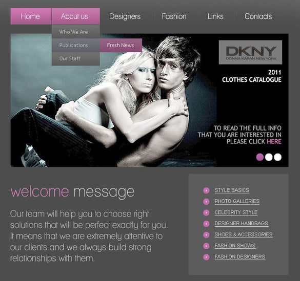 awesome blog psd template for beauty fashion