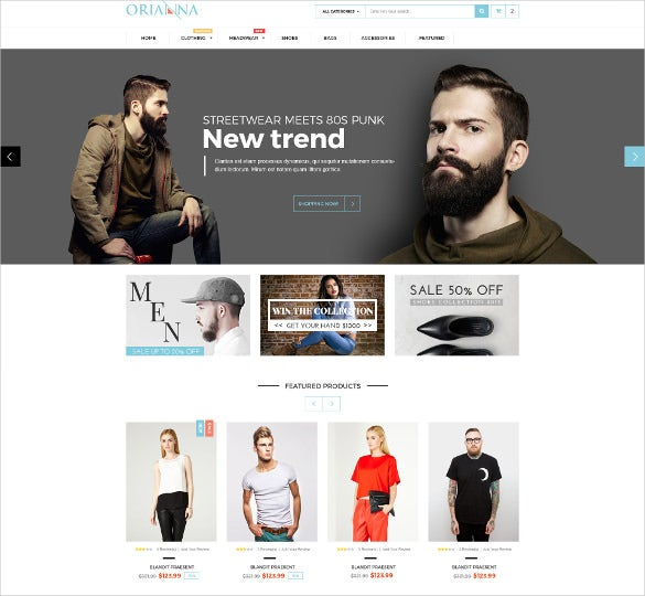 stylish responsive fashion psd template