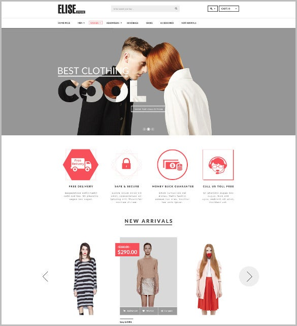 flexible beauty salons fashion psd template1