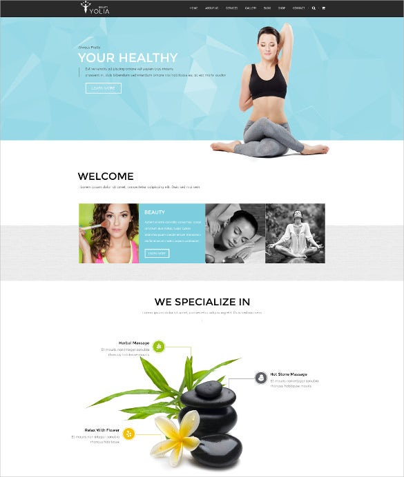 minimalist style responsive fashion beauty psd template