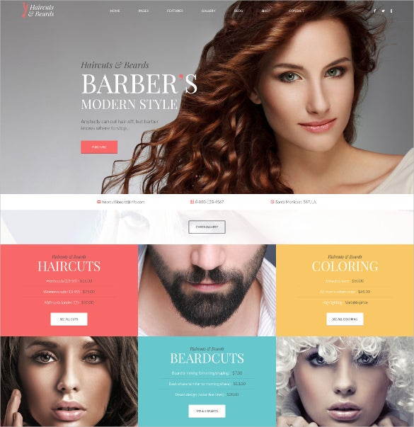 professional fashion beauty psd template