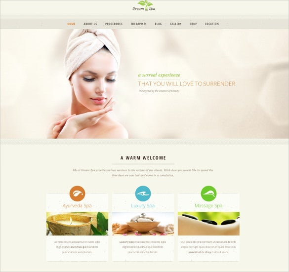beauty spa fashion psd theme