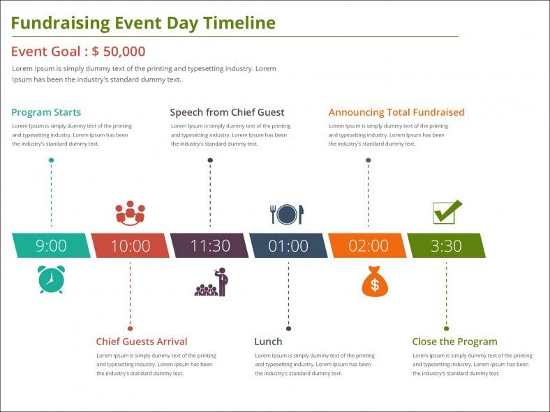 9 Event Timeline Templates Free Sample Example Format – Sample Event Schedule Template