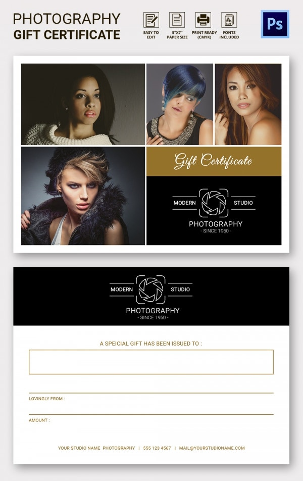 Photography Gift Certificate Template1